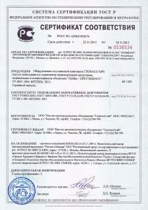 Сертификат соответствия ГОСТ_Р на продукцию Галилео-ГЛОНАСС код ОКП 68 1100